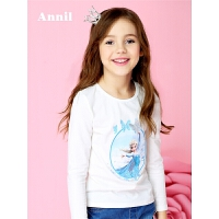安奈儿童装女童春夏新款中大童长袖T恤长袖卫衣上衣EG811165