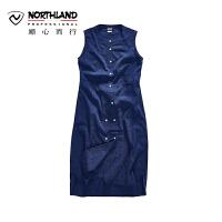 【顺心而行】NU诺诗兰夏季户外女式休闲时尚款舒适无袖连衣裙KL072313