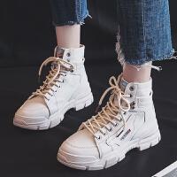 马丁靴女2019秋冬季新款百搭英伦风短靴单靴子厚底增高短筒雪地靴