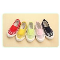 春秋儿童帆布鞋幼儿园室内男童女童宝宝单鞋