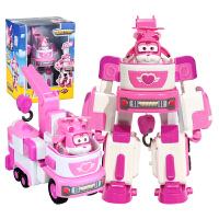 奥迪双钻 超级飞侠公仔玩偶 儿童玩具 变形机器人套装 救援车 小爱