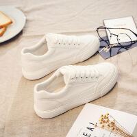 №【2019新款】冬天穿的基础百搭小白鞋新款布鞋加绒帆布鞋女韩版棉鞋子