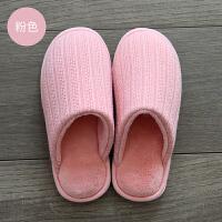 冬季棉拖鞋包跟保暖地板室内厚底家居简约日式情侣男女拖鞋冬