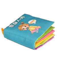 纽奇勾勾手宝宝布书撕不烂带响纸早教启蒙书0-1-3岁婴儿布书手掌书玩具BS-11*发