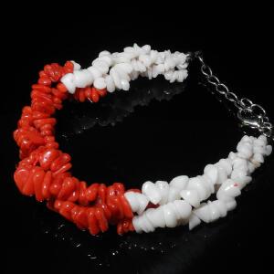 珊瑚配白珊瑚手链