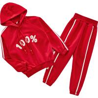 女童卫衣两件套秋装中大儿童装运动服小女孩两件套潮