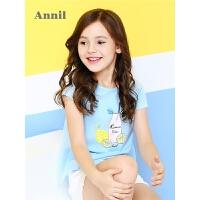 安奈儿童装女童T恤夏季新款短袖圆领T恤EG821267
