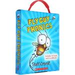 Fly Guy Phonics Boxed Set 苍蝇小子 12册自然拼读盒装 儿童阅读启蒙10册趣味故事2册练习册