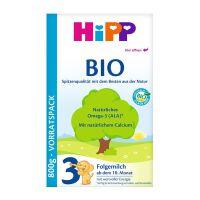 保税区直发 德国Hipp Bio喜宝有机奶粉3段 2078(10-12个月宝宝)800g 盒装