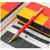 毕加索PS-988精英亮红金夹钢笔 墨水笔笔 签名笔学生笔礼品笔