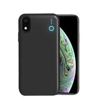 苹果XR背夹电池移动电源适用iphonexmax无线充电宝手机壳 磨砂黑 6.5寸苹果X MAX 6000毫安
