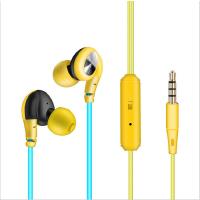 手机耳机线彩色运动耳机重低音音效线控通用手机K歌挂耳入耳耳塞式时尚潮流带麦克风