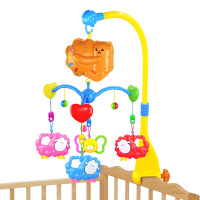 仙邦宝贝0-1岁婴幼儿旋转电动音乐宝宝床铃带灯光多款
