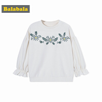 巴拉巴拉童装女童小童宝宝卫衣T恤圆领儿童秋装2017新款套头衫潮