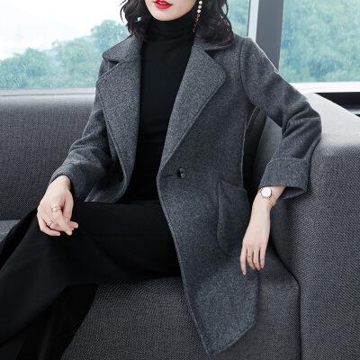 森系小个子毛呢外套女短款韩版2018新款流行羊毛呢子羊绒大衣加厚