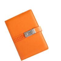 卡杰A5商务带锁密码本日记本手账手帐本文具笔记本记事本子