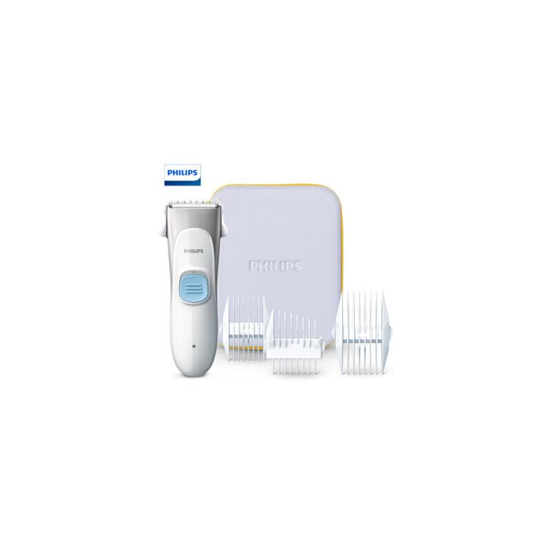飞利浦(PHILIPS)婴儿理发器剃头电推子可水洗低噪音电推剪HC1099/15 超静音设计,安全刀头,全机身水洗