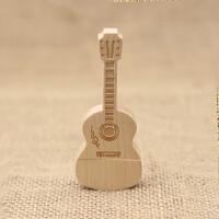 木质吉它16G u盘 创意礼品定制木头商务节日diylogo 个性礼物 办公时尚