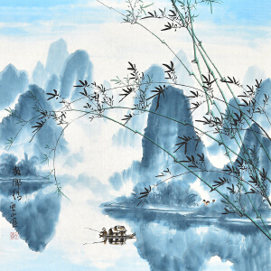 河南省翰都中国书画院院长    杜云山《故乡情》gs01240