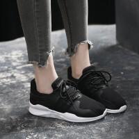 运动鞋 女士低帮系带平底耐磨韩版跑步鞋学生春夏季新款潮透气板鞋休闲鞋子女式小白鞋