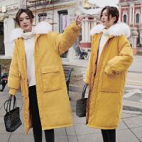 【极速发货 超低价格】2020冬季韩版加厚棉衣女宽松女装长款过膝棉服外套潮中长款