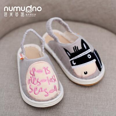两岁宝宝包头拖鞋秋女童1-3岁防滑软底室内防掉居家鞋