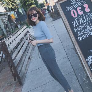 卡茗语2017秋季新款女装韩版气质名媛chic风小香风两件套装女秋装时尚潮