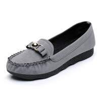 春秋新款老北京女鞋平底单鞋黑色休闲工作鞋孕妇妈妈鞋