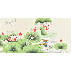 中国书画研究会会员 唐晓静130 X 66CM花鸟画gh05289