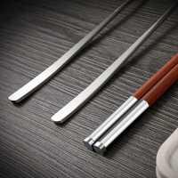 便携筷子勺子套装木质餐具304不锈钢叉子三件套装学生成人单人装