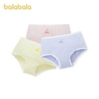 巴拉巴拉儿童内裤棉质小平角女童短裤中大童小童亲肤可爱3条装