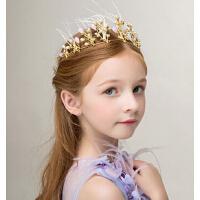 新年皇冠头饰头饰公主发饰 花童演出头饰女童发卡金色发箍