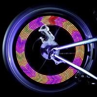 自行车灯风火轮 骑行钢丝灯 辐条装饰灯山地车骑行装备配件