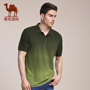 骆驼男装 夏季新款翻领男T恤 日常青春活力棉质短袖T恤