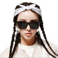 音米黑超墨镜女偏光太阳镜女方框墨镜