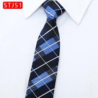 韩版5CM方便懒人拉链易拉得领带男士结婚休闲条纹潮黑色领带窄款
