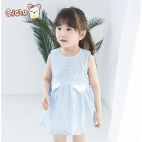 Cicie 品牌童装2016夏装新款韩版女童装 童裙无袖背心裙子