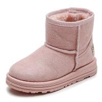 童鞋女童雪地秋冬季棉鞋儿童鞋子