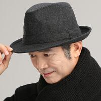 男士帽子冬毛呢保暖秋冬中老年人冬天老人帽