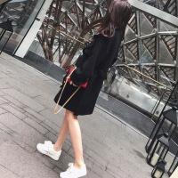 风衣女中长款韩版春季2018新款bf百搭港风chic复古开学季lulu外套 X