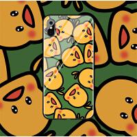 网红鸭子iphonex手机壳玻璃苹果xs手机套max情侣8plus全包7男女6splus硬壳xr卡通 6/6s小屏 (玻