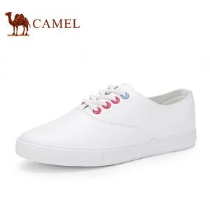 骆驼牌 女鞋 2017春季新款韩版小白鞋休闲鞋舒适平底单鞋低帮潮