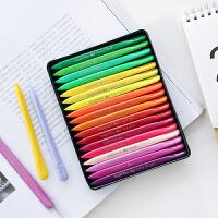马培德12色 24色 36色三角蜡笔 儿童绘画涂鸦画笔不粘手蜡笔