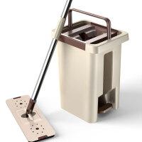 艾净 旋转拖把桶家用免手洗墩布 刮刮乐拖把桶 干湿两用平板拖自动懒人拖地神器拖布