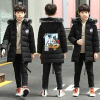 男童棉衣外套中长款冬装小学生男孩棉袄12-15岁