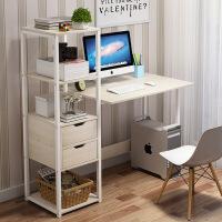 【1件3折 领券】电脑台式桌电脑桌简易小桌子卧室简约现代学生写字桌书桌书架组合