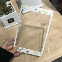 新款2017iPad卡通�N膜air2/mini3�O果4迷你1前膜全屏�化膜5彩膜