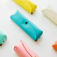萌萌爱创意可爱韩国铅笔笔袋文具盒简约马卡龙男女学生零钱包