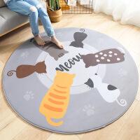 【限时3折】圆形法兰绒卡通地毯地垫 家用客厅卧室宝宝床边防滑爬行垫子