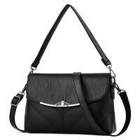 小挎包单肩斜挎手提包中年妈妈母包包新款中老年女包婆婆大气软皮女士单肩斜挎包
